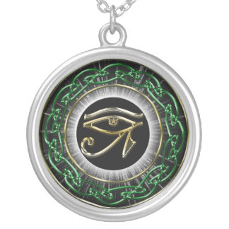 Eye Of Ra Silver Plated Necklace