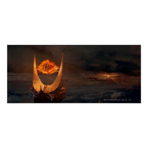 Eye of Sauron tower Posters