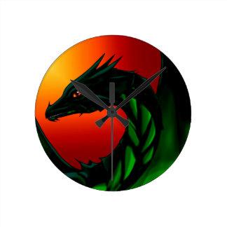 Eye of the Dragon Round Clock
