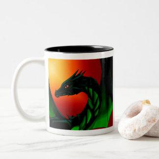 Eye of the Dragon Two-Tone Coffee Mug