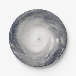 Eye of the Hurricane 7 Inch Paper Plate