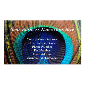Eye of the Peacock Feather Close-Up Business Cards