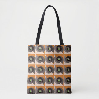 Eye Of The Storm Retro Abstract Tote Bag