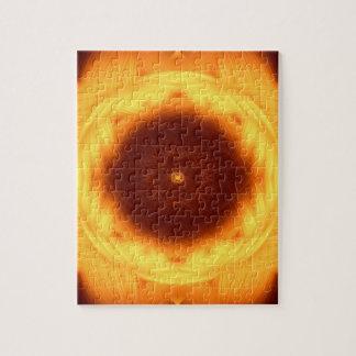 Eye of the Sun Mandala Puzzles