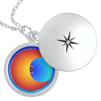 Eye Of The Sun Round Silver Locket