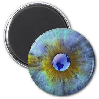 Eye On Earth 6 Cm Round Magnet