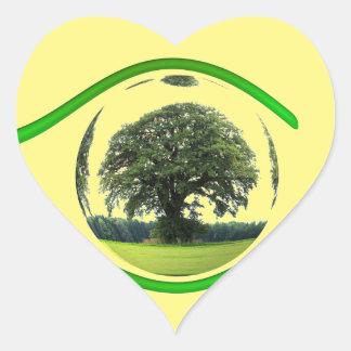 Eye on Ecology Heart Sticker