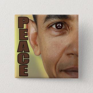 EYE ON PEACE, BARACK OBAMA 15 CM SQUARE BADGE