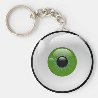 Eye on the keys basic round button key ring