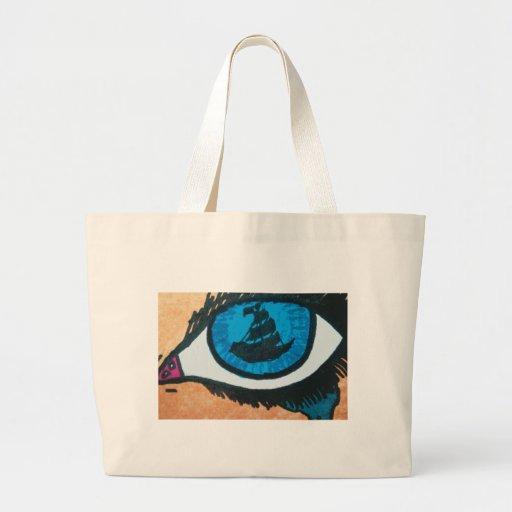 Eye on the Sea Mermaid Tears Tote Bags