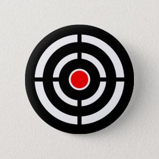 Eye on The Target - Bullseye Print 6 Cm Round Badge