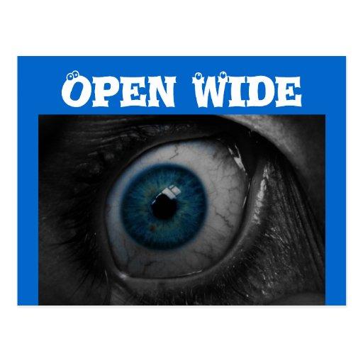 Eye Open Wide postcard