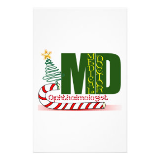 Eye OPTHAMOLOGIST MERRY CHRISTMAS MD DOCTOR Personalized Stationery