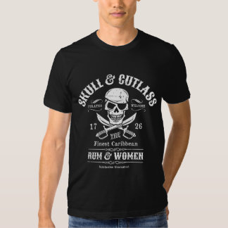 Eye Patch Pirate Skull and Crossed Swords Tee Shirts