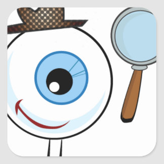 Eye Search Square Sticker