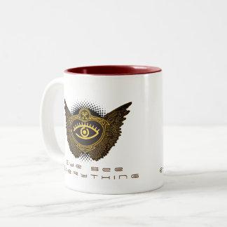 Eye see everything Two-Tone coffee mug