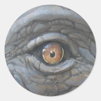 Eye see_ round sticker