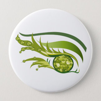 "EYE SEE YOU ""AUGUST PERIDOT"" 10 CM ROUND BADGE"
