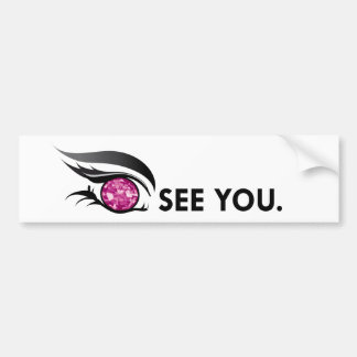 "EYE SEE YOU ""BURGUNDY"" BUMPER STICKER"