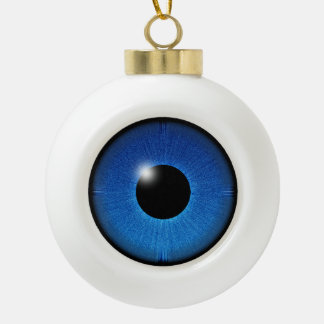 EYE SEE YOU CERAMIC BALL CHRISTMAS ORNAMENT