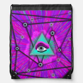 Eye See You! Drawstring Bag