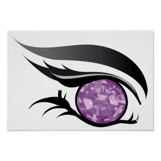 "EYE SEE YOU ""FEBRUARY PURPLE AMETHYST"" POSTER"
