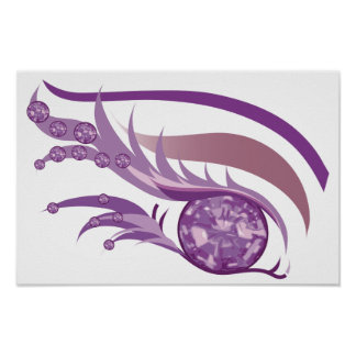 "EYE SEE YOU ""JUNE LIGHT PURPLE AMETHYST"" POSTER"