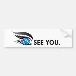 "EYE SEE YOU ""SEPTEMBER SAPPHIRE BLUE"" BUMPER STICKER"
