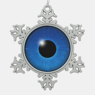 EYE SEE YOU SNOWFLAKE PEWTER CHRISTMAS ORNAMENT