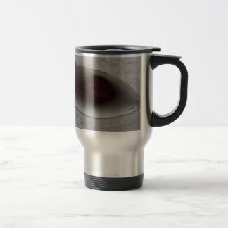 eye shaped hole, made of paper coffee mugs