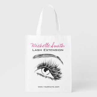 Eye Sketch Mascara Lash Extension Reusable Grocery Bag