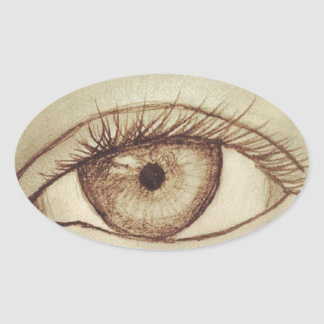 Eye Sketch Oval Sticker