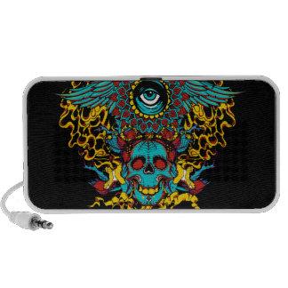 Eye skull doodle mini speakers