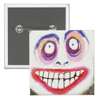 eye smile 15 cm square badge