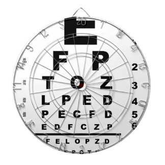 Eye Test Chart Dartboard
