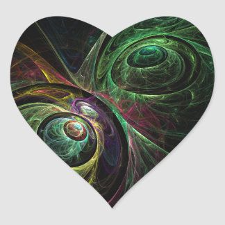 Eye to Eye Abstract Art Heart Sticker