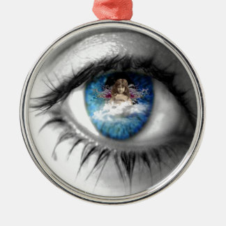 Eye to the soul Silver-Colored round decoration