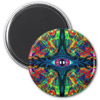 Eye Twisted and Trippy 6 Cm Round Magnet