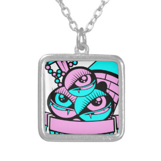 eye vampire fun silver plated necklace