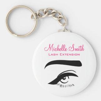 Eye with eyeliner lash extension branding key ring
