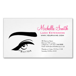 Eye with eyeliner lash extension branding Magnetic business card