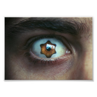Eye with Star Shaped Iris Photo