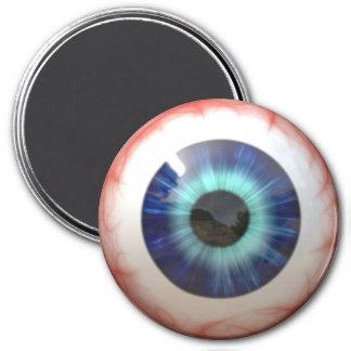 Eyeball 7.5 Cm Round Magnet