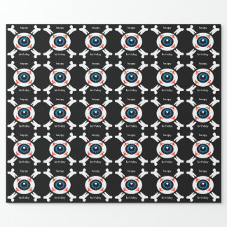 Eyeball-and-Crossbones Wrapping Paper