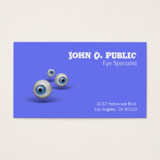 Eyeball Eye Specialist Business Card