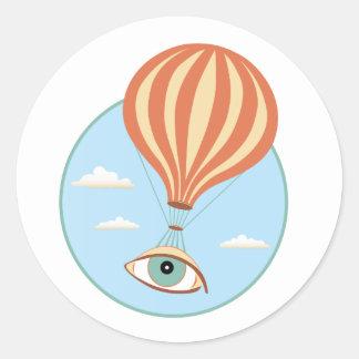 Eyeball Hot Air Balloon Sticker