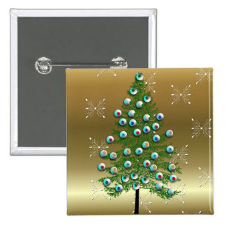 Eyeball Tree 15 Cm Square Badge