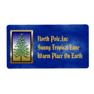 Eyeball Tree Shipping Label