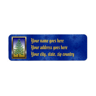 Eyeball Tree Return Address Label