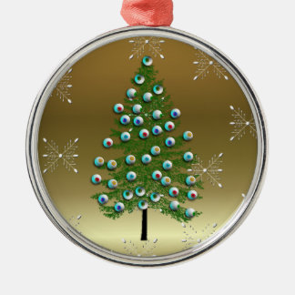 Eyeball Tree Silver-Colored Round Decoration